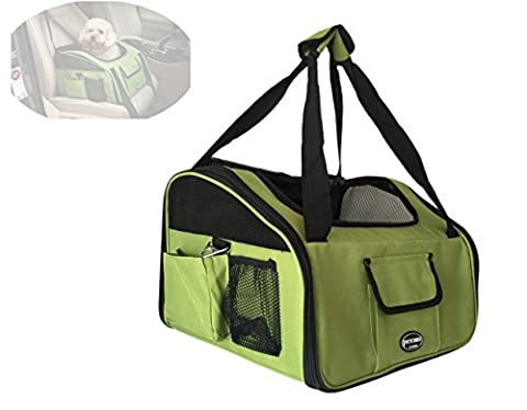 Petcomer BCPC3-GN Waterproof Car Front Seat Carriers Cats Kitten Dogs