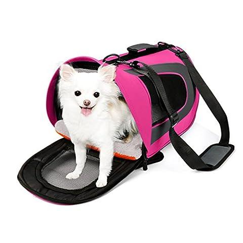 hansee Sac Pet Voyage, Portable Pet, pour chiens, chats et chiots, (Rembourrage et sangle inclus))