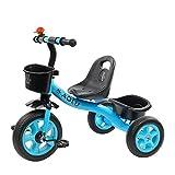 Dreirad Blau/grüne Jungen, Trike für Kinder im Alter von 2/3/4/5 / Jahren, 3 Wheeler Bike Pedal Ride On, Schnellmontage (Farbe : Blau)