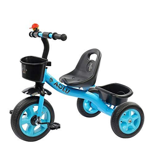 Dreirad Kinder Trike für Alter 2/3/4/5 / Years Old Children, 3 Wheeler Bike Pedal Fahrt auf für Jungen Mädchen Kleinkind (Farbe : Rot)