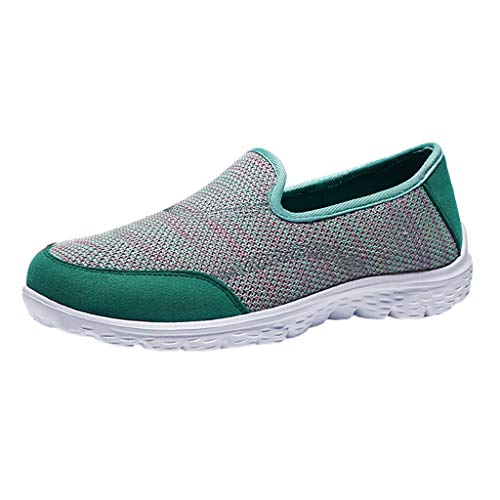 Strung Frauen Breathable Flache Rutschfeste Einzelne Schuhe Lässige Strickschuhe Wanderschuhe Atmungsaktives Mesh Work Slip-on Sneakers
