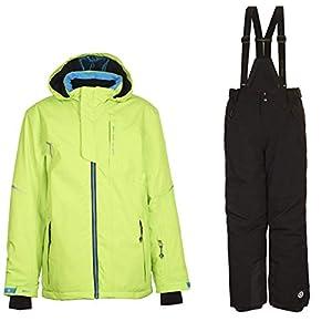 Killtec Skianzug Ximo Jr. für Kinder Jungen und Mädchen Wasserabweisend, Winddicht, Abnehmbarer Kapuze und Skipasstasche