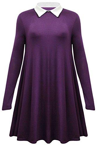 Vanilla Inc - Robe - Patineuse - Manches Longues - Femme rouge * taille unique Violet