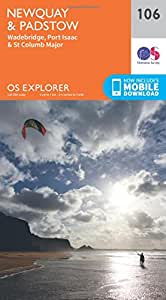 OS Explorer Map (106) Newquay and Padstow