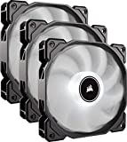 Corsair AF120, Air Series, 120mm LED Ventilateur Silencieux - Blanc (Pack Triple)