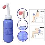 Chaiyan Reise-Bidet-Flasche - Tragbarer Bidet-Sprüher Mini-Handbidet für die Körperhygiene Pflege Wischer 450ml Wasser,Pink