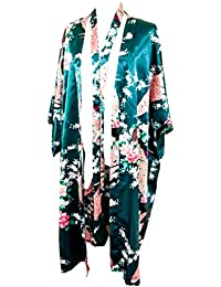 4c8b421750 Kimono Robe Long 16 Colors Premium Peacock Bridesmaid Bridal Shower Womens  Gift