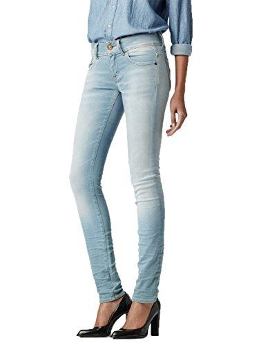 G-STAR RAW Damen Jeanshose Lynn Zip Mid Skinny Wmn Blau (Lt Aged 6745.424)