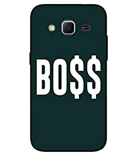 BOSS, Black, Lovely pattern, Amazing Pattern, Printed Designer Back Case Cover for Samsung Galaxy Core Prime :: Samsung Galaxy Core Prime G360 :: Samsung Galaxy Core Prime Value Edition G361 :: Samsung Galaxy Win 2 Duos Tv G360Bt :: Samsung Galaxy Core Prime Duos