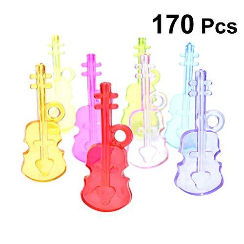 STOBOK 170 stücke Handwerk Acryl Lose Perlen Schmuck Machen Charme mit Gitarre Form für DIY Handwerk Schmuck Zubehör (Zufällige Farbe)