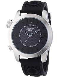 Mike Ellis New York Herren-Armbanduhr XL a:ne Analog Quarz Silikon SL4315