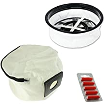 SPARES2GO Cloth Filter + Reusable Washable Zip Bag for Numatic Henry Hetty etc Vacuum (+ Air Fresheners)