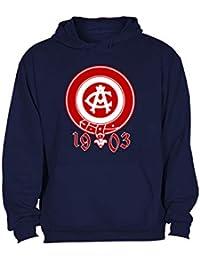 CamisetasATM1903 Sudadera ATLÉTICO DE Madrid Hombre Escudo ATM 1903 Rojo