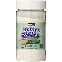 Organic Stevia, White, 4 Ounce by Now
