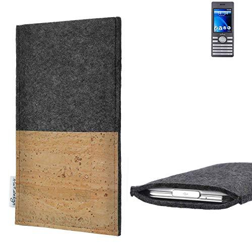 flat.design vegane Handy Hülle Evora für Kazam Life B6 Kartenfach Kork Schutz Tasche handgemacht fair vegan