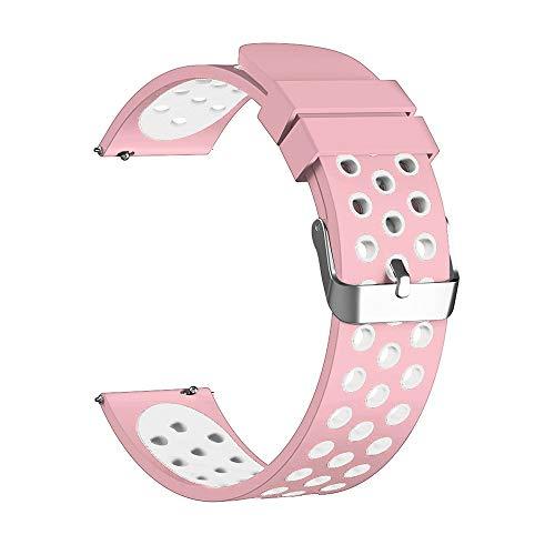 7Lucky Uhrenarmband Silicone,Sport Armbänder,Ersatz Band Smart Watch Band Gurt Handgelenk Armband Kompatibel für Huawei Watch GT (Rosa)