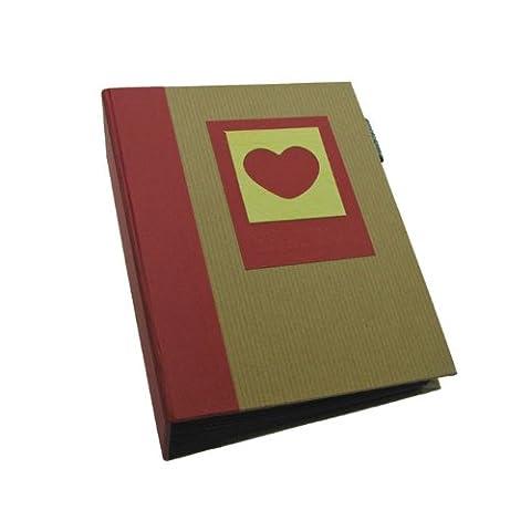 Dorr Green Earth Heart Mini Max Slip-In Photo Album for 120 Photos, Red, 7 x 5-Inch