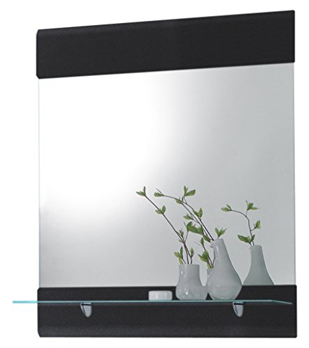 e Spiegel, Badezimmerspiegel, Holzdekor, Grau, ca. 76 x 88 x 17 cm ()