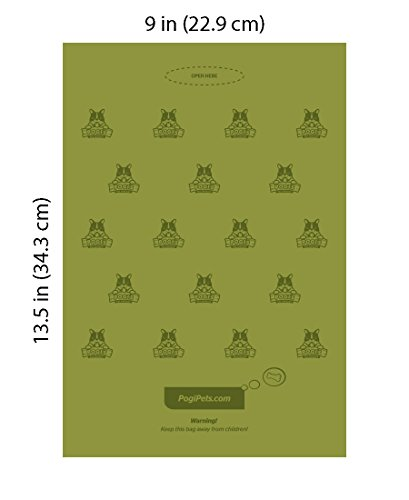 Pogi's Hundekotbeutel – 50 Rollen (750 Tüten) +2 Spender – große, biologisch abbaubare, parfümierte, tropfsichere Hundetüten - 4