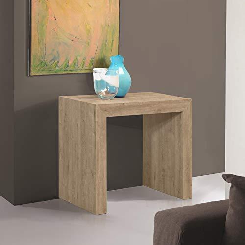 Arredinitaly party - consolle allungabile 90 x 45 cm. diventa un solido tavolo allungabile fino a 3 mt. (12 posti) (rovere naturale)