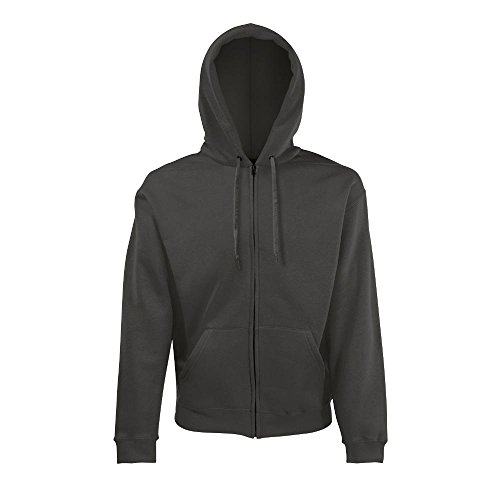 Fruit of the Loom Hooded Sweat-Jacket S,Light Graphite