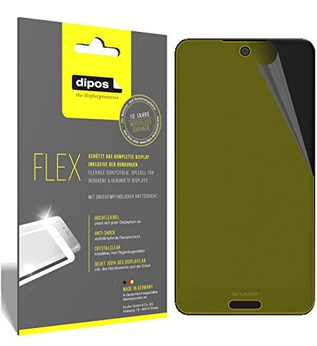 dipos I 3X Schutzfolie 100% passend für Sharp Aquos C10 Folie (Vollständige Displayabdeckung) Displayschutzfolie