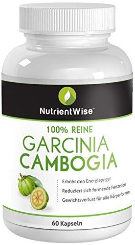 Garcinia Cambogia Extrakt 100% pure ♥ schnellen Gewichtsverlust Formel - 60 Kapseln Stärkster Appetitzügler, ♥ Diät legalen gewichtsverlierenden Produkte.