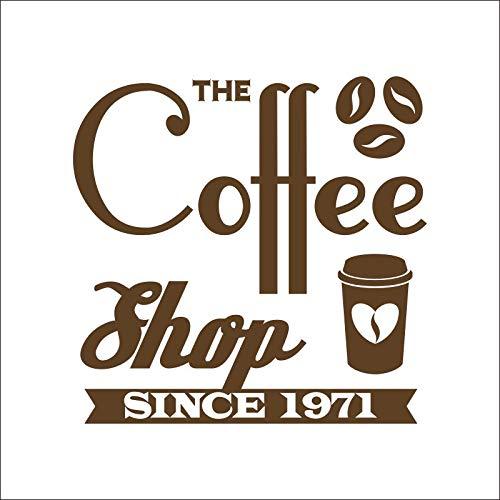 hllhpc Heiße Schokolade Kaffee Aufkleber Vinyl Kunst wandaufkleber Aufkleber wandbild Kaffee Aufkleber qmar 44 * 45 cm