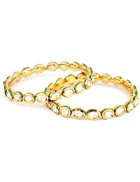 YouBella Traditional Jewellery Gold Plated Kundan Bracelets Bangles Jewellery For Women And Girls