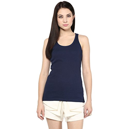 Ajile by Pantaloons Women's Casual Tank Top _Navy_S  available at amazon for Rs.149