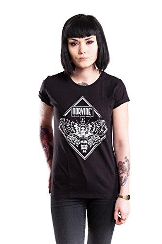 Norvine Ladies T-Shirt Moth Black