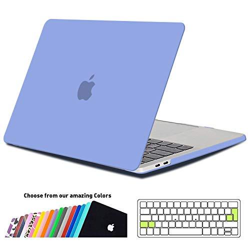 iNeseon MacBook Pro 15 Hülle Case 2018/2017/2016, Hartschale Cover mit EU Transparent Tastaturschutz Schutzhülle für MacBook Pro 15 Zoll mit Touch Bar,Touch ID Modell A1990/A1707,Gelassenheit Blau (Ersatz-schlüssel Für Macbook Pro)