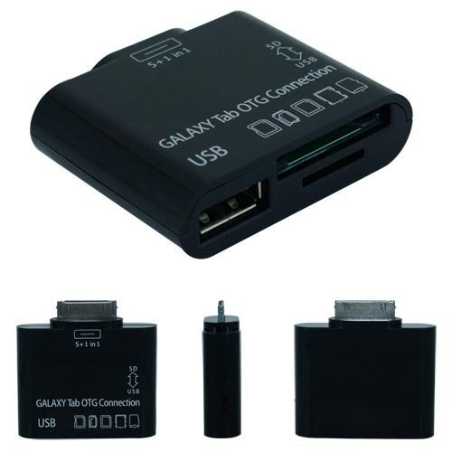 5 in 1 Kartenleser OTG Connection Kit für Samsung Galaxy Tab 7.0 Plus P6210, P6200, 7.7 P6800, 8.9 P7310, P7300, 10.1 P7510, P7500