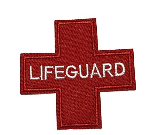 Lifeguard bestickter Aufnäher Taktische Militär Morale Patriotische Motorrad US Veteran EMT Medic Red Cross Erste Hilfe Serie Aufbügler oder Aufnäher Emblem Applikation Stoff Patches (Geburtstag Taktische)