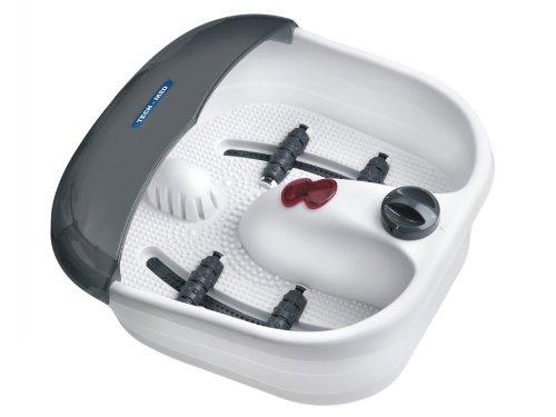 Techmed–Tm-588–Appareil pour bain de pieds, hydromassage à vibrations, bulles, chaleur, à rayons infrarouge