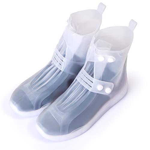 GWHOLE Cubierta Impermeable para Zapatos/Botas/Zapatillas, Cubrecalzado a prueba de Agua, Lluvia, Nieve...