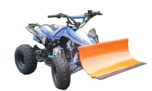 """7,5 PS - Quad \""""Speedy\"""" ATV 125 ccm / Mit 1m breitem Schneeschieber / E-Starter + Automatik-Getriebe / Doppel-Sportauspuff / Bis 65 km/h / Fernbedienung + Alarm / Schneeschild Schneeräumer"""