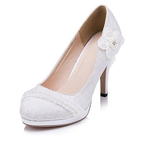 Kevin Fashion , Chaussures de mariage à la mode femme - Blanc Cassé - Blanco - blanco, 40 UE EU