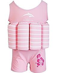 Konfidence Float Suit - Pink Breton Stripe (1-2 Years) by Konfidence