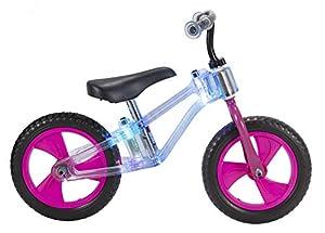 """Toim- Bicicleta 12"""" SIN Pedales Luces LED Rueda EVA Rosa MAS DE 3 AÑOS, Multicolor (7001)"""