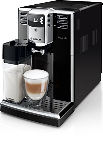 Saeco Incanto HD8916/01 Kaffeevollautomat (AquaClean, integriertes Milchsystem) schwarz