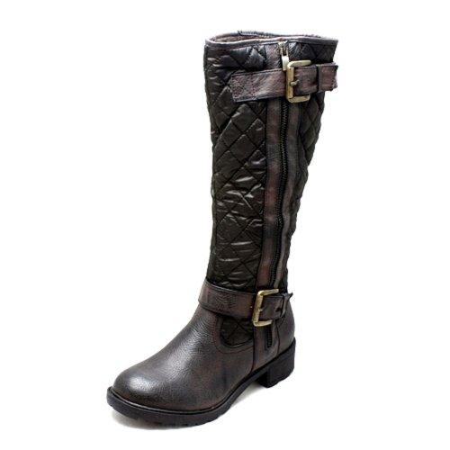 SendIt4me , Chaussures bateau pour femme Noir Noir Marron - Marron