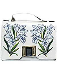 Just Bag Women's Leather White Leather Hand Bag (jb-19)