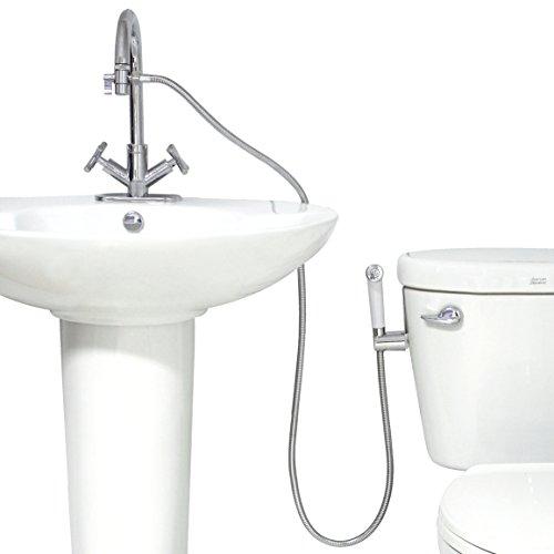 modona Premium warmem Wasser Windel & Bidet Spritze komplett-Set-Weiß & Chrom poliert-5Jahr Vorteil