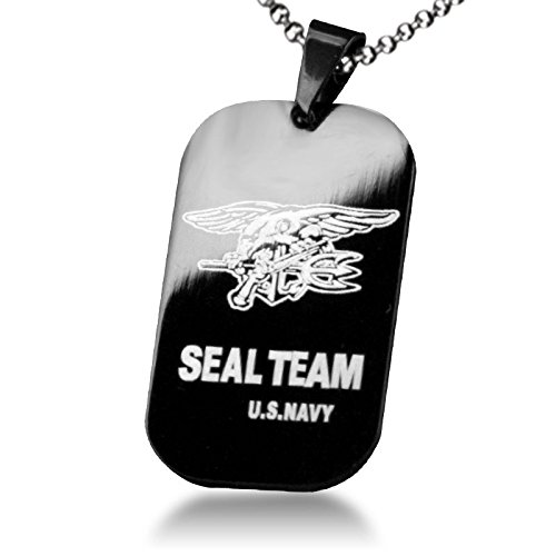 Grimbatol US Navy Seal Team Six 6 Dog Tag Necklace Special Forces Team Army Necklace for Men -