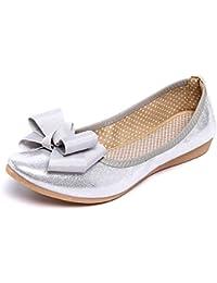 19992941b2b Amazon.es  Plateado - Bailarinas   Zapatos para mujer  Zapatos y ...