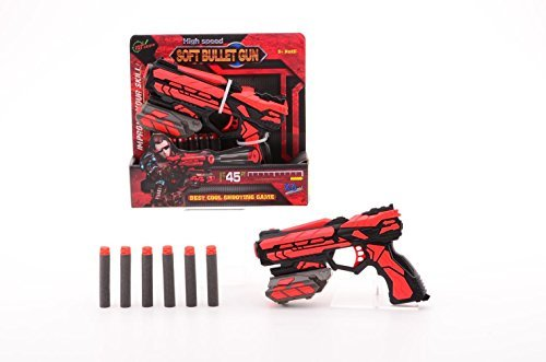 Serve and Protect - Starterpistole Raytheon Phantom Shooter Schwarz / Rot 18 cm inkl 6 Darts
