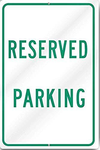 Reserved Parking Metallwand Kunst Plaketten Warnung lustiges Essen Poster dekoriert Wohnzimmer Restaurant Bar Ostern Weihnachtsgeschenk.