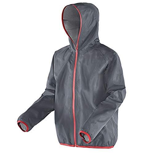 A literary youth Regenjacke, wasserdichte Kleidung für Männer Motorrad Bike Work Golf Regenbekleidung Jacke & Hosenanzug Leicht Winddicht und Atmungsaktiv @ Jacket_XXXXL -