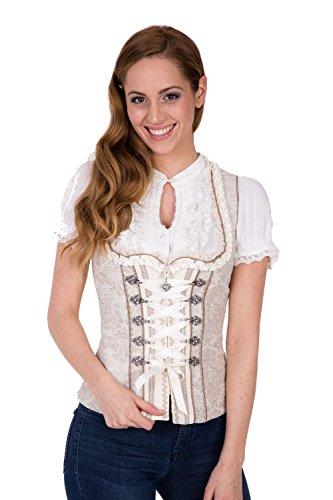 Krüger - Damen Trachten Mieder im Country Look, Country Lady (Artikelnummer: 33583-15), Größe:40, Farbe:Beige